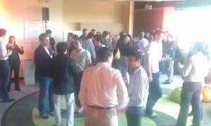 Our audience enjoying tapas and genuine Spanish wine