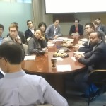 Our MBA students in the Board Room of Asset management